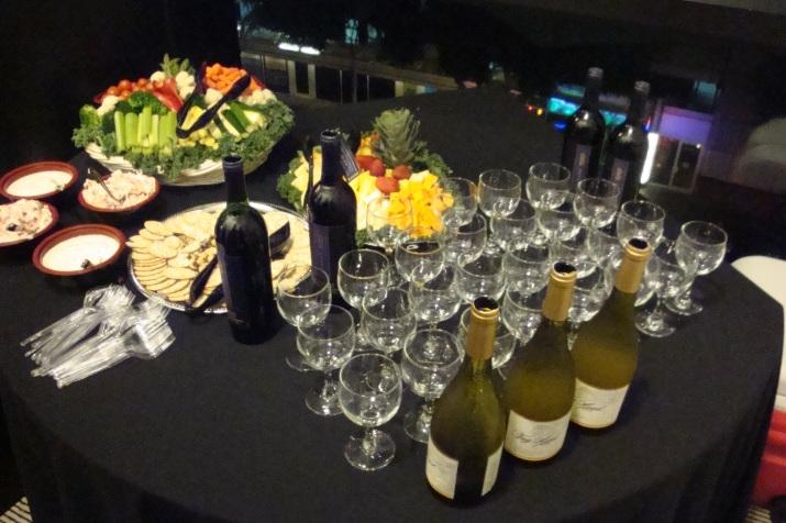 Food wine table